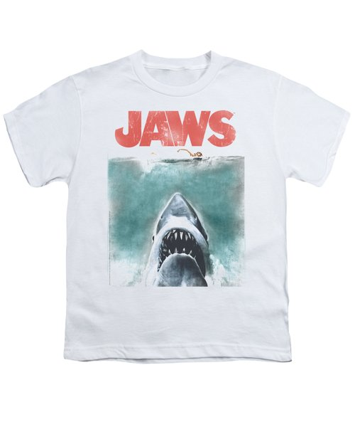 Jaws - Vintage Poster Youth T-Shirt by Brand A