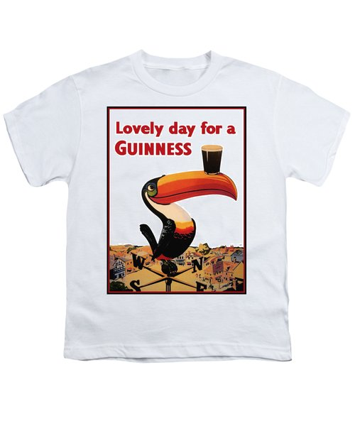 Lovely Day For A Guinness Youth T-Shirt by Nomad Art