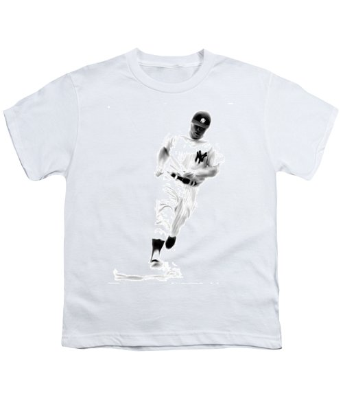 Mantles Gate  Mickey Mantle Youth T-Shirt by Iconic Images Art Gallery David Pucciarelli