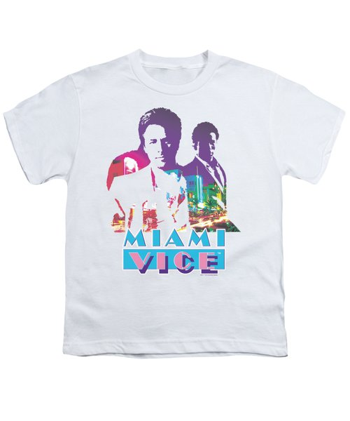 Miami Vice - Crockett And Tubbs Youth T-Shirt by Brand A