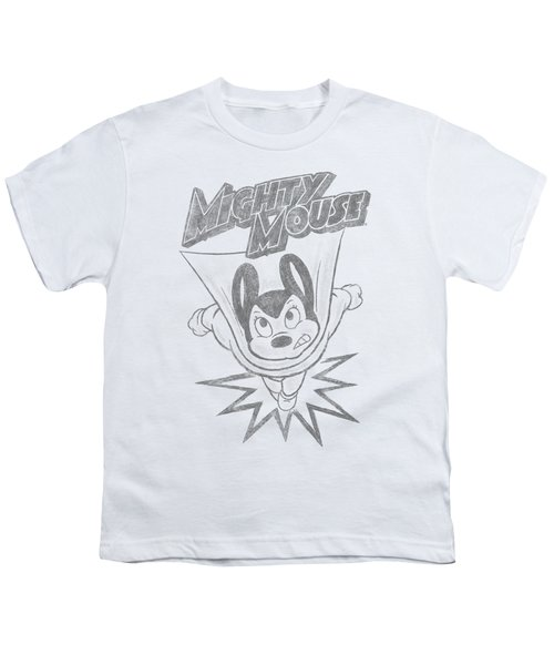 Mighty Mouse - Bursting Out Youth T-Shirt by Brand A
