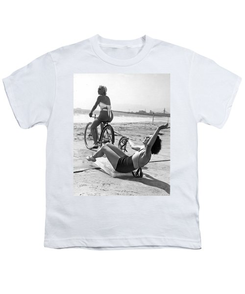 New Sport Of Ice Planing Youth T-Shirt by Underwood Archives
