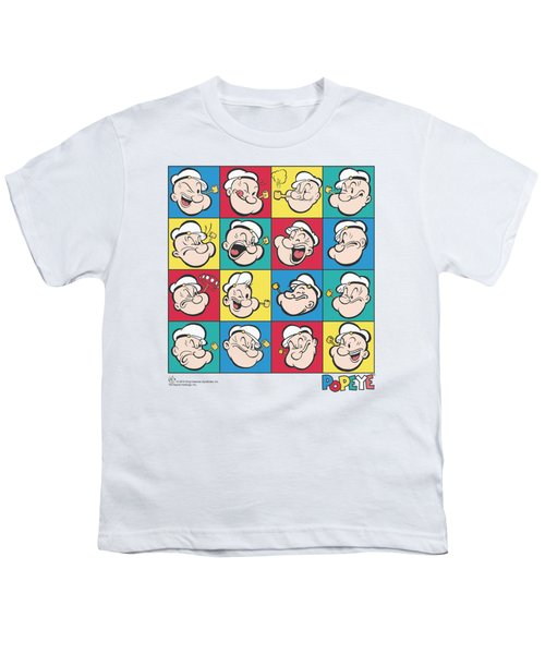 Popeye - Color Block Youth T-Shirt by Brand A