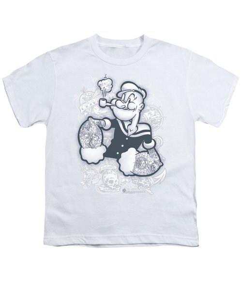 Popeye - Tattooed Youth T-Shirt by Brand A