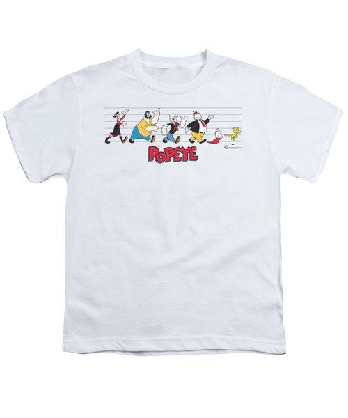 Popeye - The Usual Suspects Youth T-Shirt by Brand A