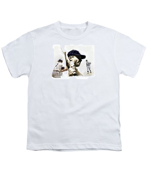 Quality Of Greatness Mickey Mantle Youth T-Shirt by Iconic Images Art Gallery David Pucciarelli