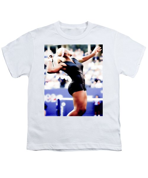 Serena Williams Catsuit Youth T-Shirt by Brian Reaves