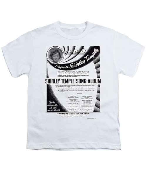 Shirley Temple Song Album Youth T-Shirt by Mel Thompson