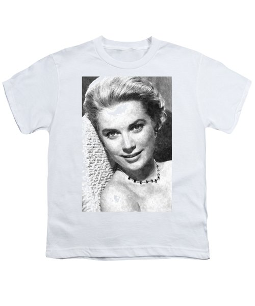 Simply Stunning Grace Kelly Youth T-Shirt by Florian Rodarte