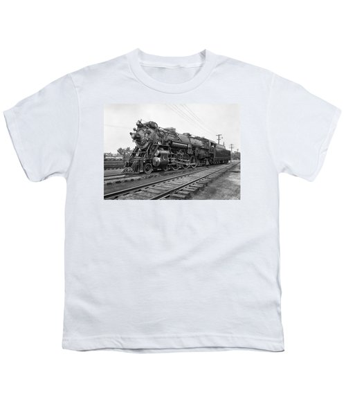 Steam Locomotive Crescent Limited C. 1927 Youth T-Shirt by Daniel Hagerman