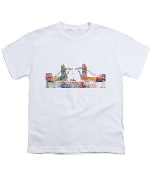 Tower Bridge Colorsplash Youth T-Shirt by Aimee Stewart