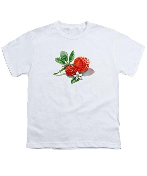 Artz Vitamins A Very Happy Raspberry Youth T-Shirt by Irina Sztukowski
