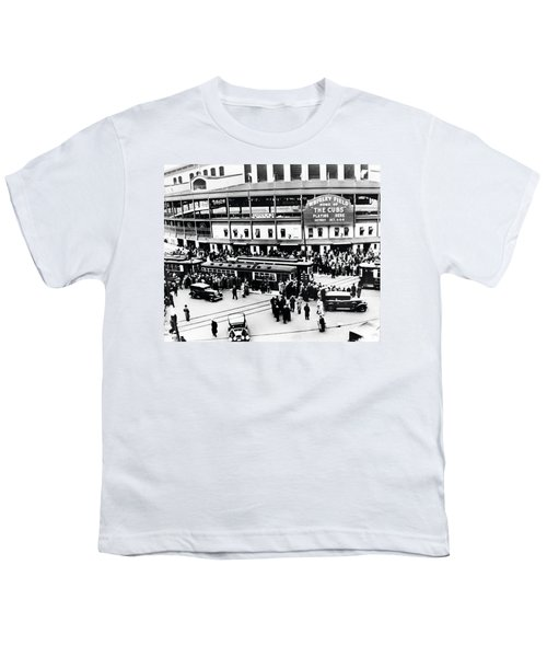 Vintage Wrigley Field Youth T-Shirt by Bill Cannon
