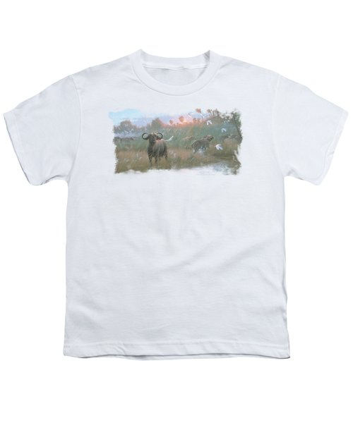 Wildlife - Cape Buffalo Youth T-Shirt by Brand A
