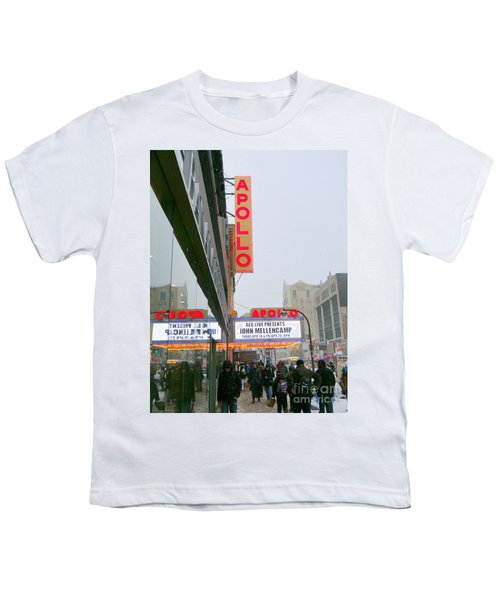 Wintry Day At The Apollo Youth T-Shirt by Ed Weidman
