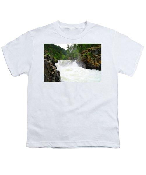 Yaak Falls Youth T-Shirt by Jeff Swan