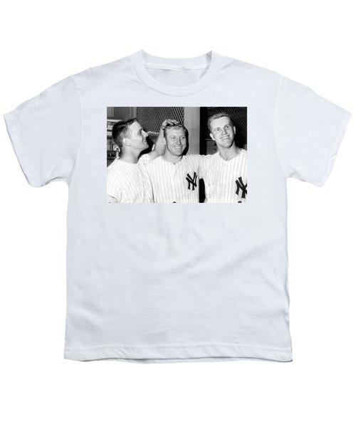 Yankees Celebrate Victory Youth T-Shirt by Underwood Archives