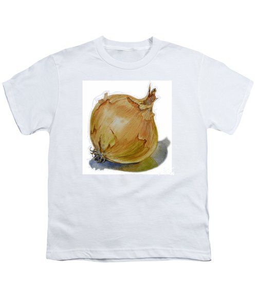 Yellow Onion Youth T-Shirt by Irina Sztukowski