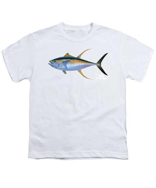 Yellowfin Tuna Youth T-Shirt by Carey Chen