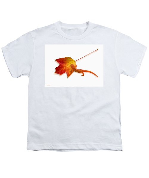 Red Spotted Newt Youth T-Shirt by Ron Jones