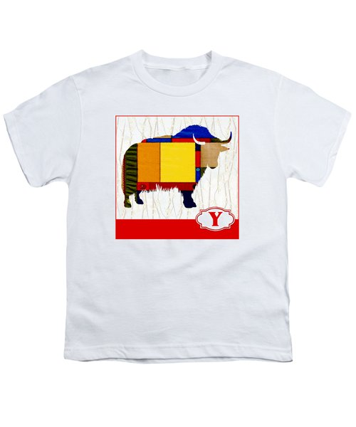 Y Is For Yak Youth T-Shirt by Elaine Plesser