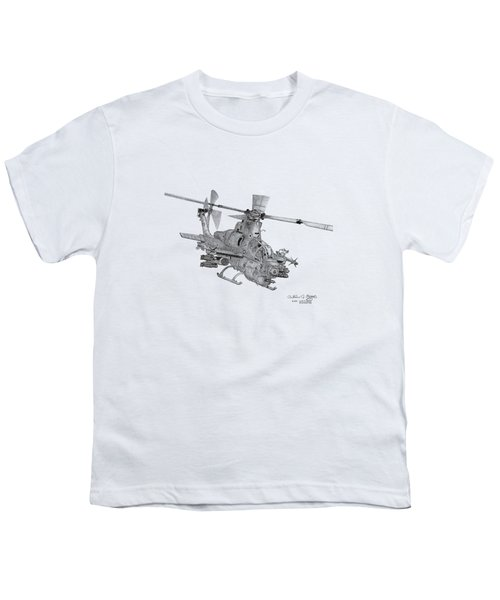 Bell Ah-1z Viper Youth T-Shirt by Arthur Eggers