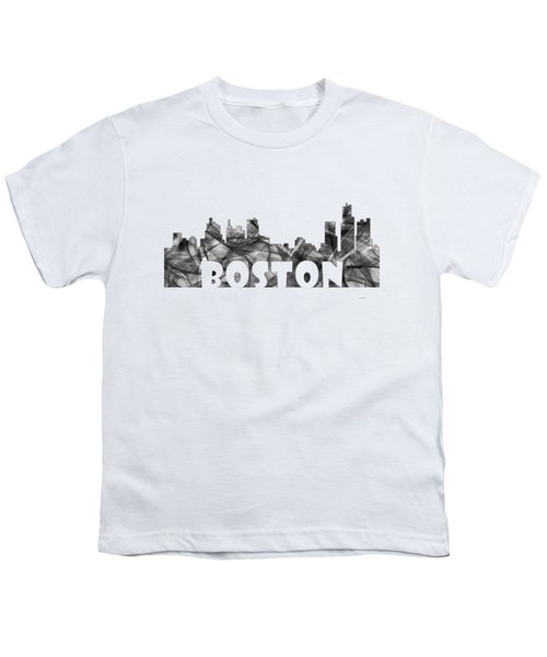 Boston Massachusetts Skyline Youth T-Shirt by Marlene Watson