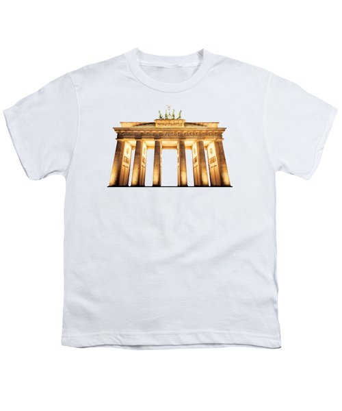 Brandenburg Gate Youth T-Shirt by Julie Woodhouse
