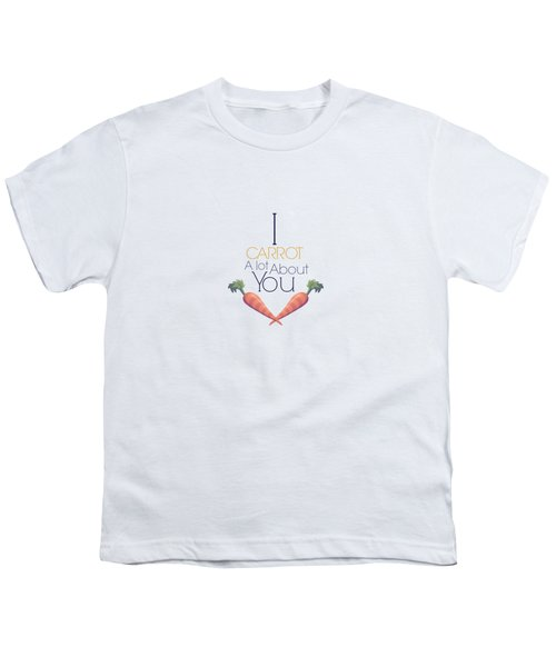 Carrot About You Youth T-Shirt by Lunar Harvest Designs