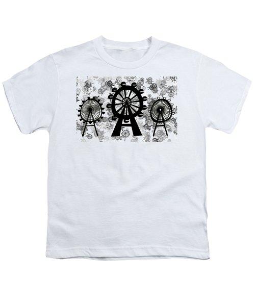 Ferris Wheel - London Eye Youth T-Shirt by Michal Boubin