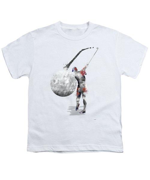Golf Player Youth T-Shirt by Marlene Watson