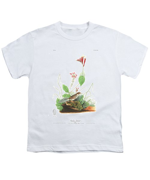 Henslow's Bunting  Youth T-Shirt by John James Audubon