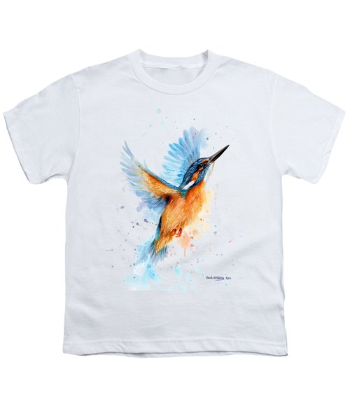 Kingfisher Youth T-Shirt by Sarah Stribbling