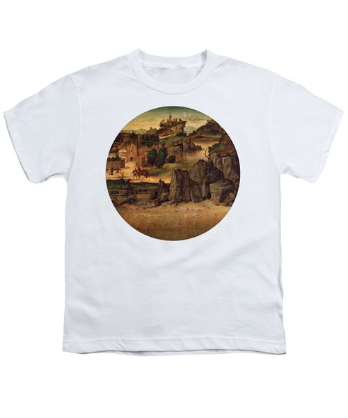 Landscape With Castles Youth T-Shirt by Bartolomeo Montagna