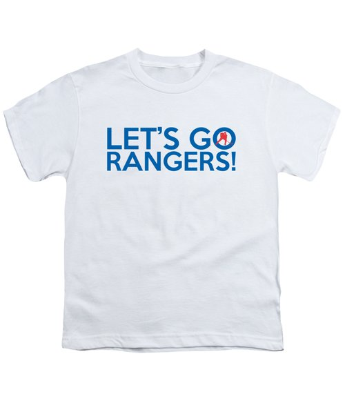 Let's Go Rangers Youth T-Shirt by Florian Rodarte