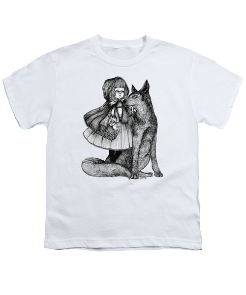 Little Red Riding Hood Youth T-Shirt by Akiko Okabe
