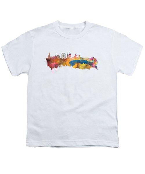 London Skyline Youth T-Shirt by Justyna JBJart