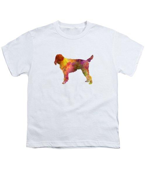 Medium Griffon Vendeen In Watercolor Youth T-Shirt by Pablo Romero
