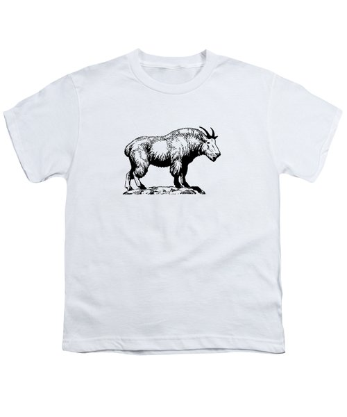 Mountain Goat Youth T-Shirt by Mordax Furittus