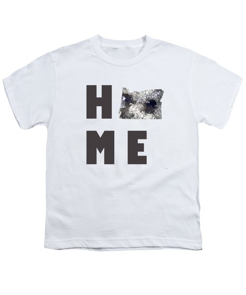 Oregon State Map Youth T-Shirt by Marlene Watson