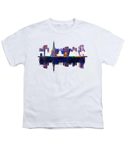 Paris France Fantasy Skyline Youth T-Shirt by John Groves
