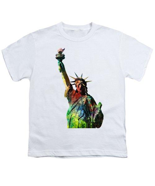 Statue Of Liberty Youth T-Shirt by Marlene Watson