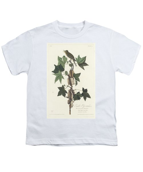 Traill's Flycatcher Youth T-Shirt by John James Audubon