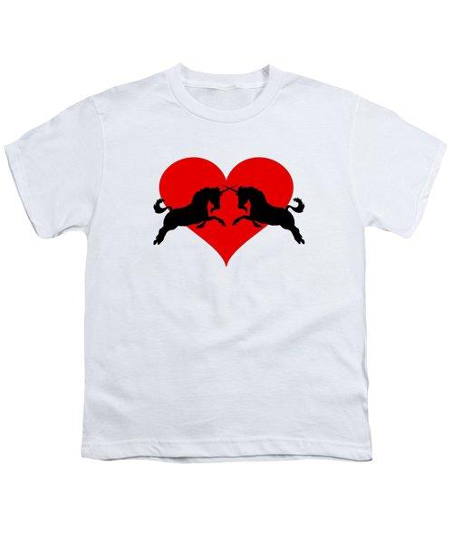 Unicorns Youth T-Shirt by Mordax Furittus