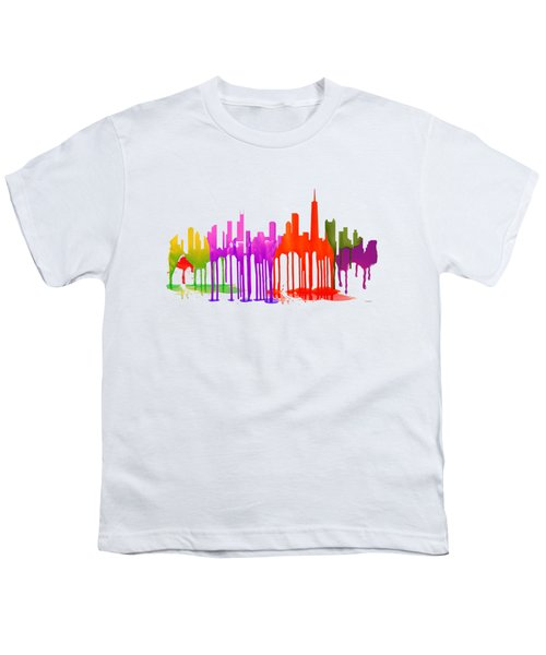 Chicago Illinois Skyline Youth T-Shirt by Marlene Watson