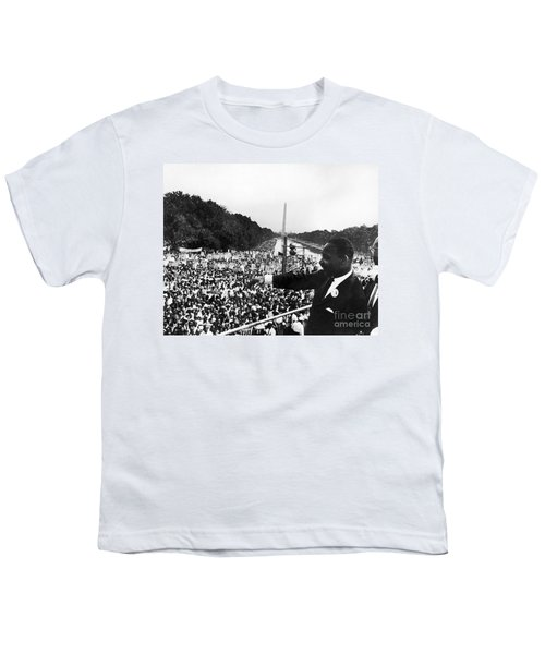 Martin Luther King, Jr Youth T-Shirt by Granger