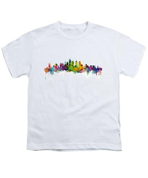 Philadelphia Pennsylvania Skyline Youth T-Shirt by Michael Tompsett