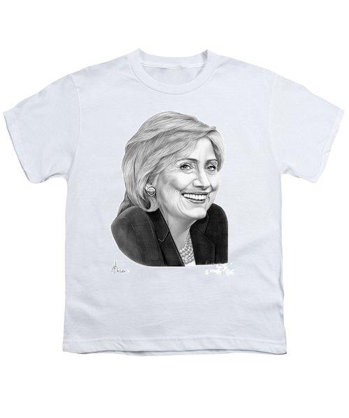Hillary Clinton Youth T-Shirt by Murphy Elliott