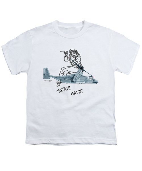 Bell Boeing Cv-22b Osprey Mojave Maude Youth T-Shirt by Arthur Eggers