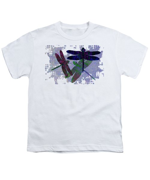 3 Dragonfly Youth T-Shirt by Jack Zulli